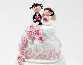 Wedding cake topper, Decoration, Gift, Keepsake - Listing for the Deposit payment