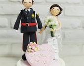 Police couple custom wedding cake topper Decoration gift  - We are perfect pair