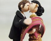 Custom Wedding Cake Topper - Indian traditional attire -