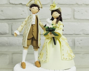 Custom Cake Topper -Traditional costume (Baroque theme)-