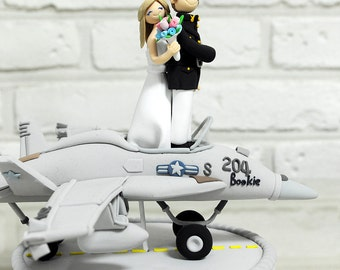 Fighter plane pilot wedding cake topper decoration gift keepsake - F18 Hornet