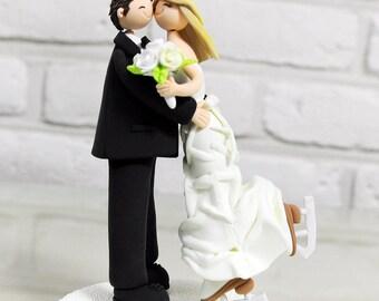 Figure skating couple custom wedding cake topper decoration gift keepsake
