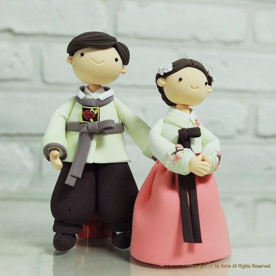 Items Similar To Korean Hanbok Custom Wedding Cake Topper