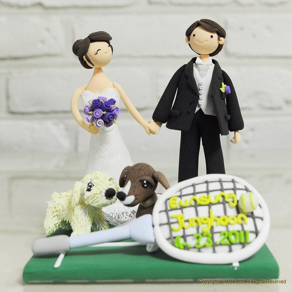 tennis wedding cake topper tennis mania custom wedding cake topper decoration by 20798