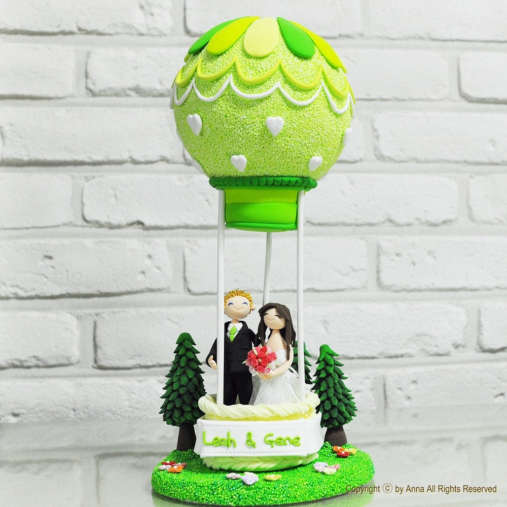 Air balloon custom wedding cake topper gift decoration let for Balloon cake decoration