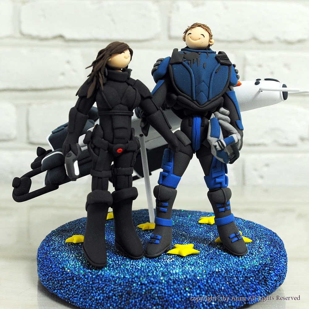 Mass Effect Cake Topper