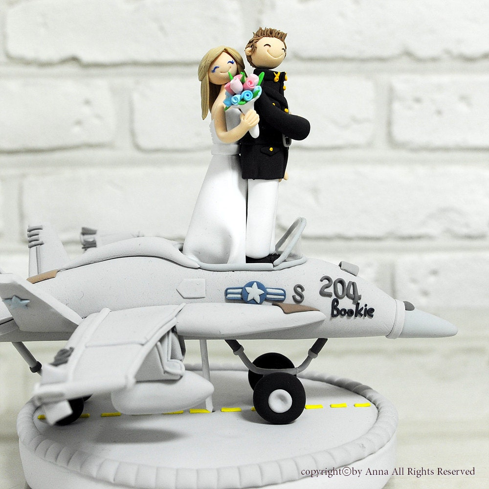 airplane cake topper fighter plane pilot wedding cake topper decoration gift 1250