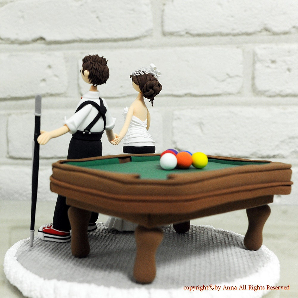 Billiards Wedding Cake Toppers