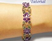 Beading Tutorial - Beaded Violets Are Blue Bracelet