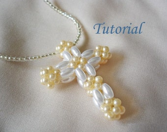 Beading Tutorial - Beaded Christian Cross