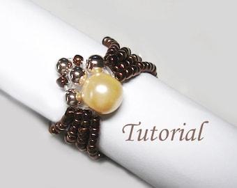 Beading Tutorial - Beaded Spider Ring Pattern, Ring Tutorial, Beaded Ring, Easy Beading, Seed Beads Beading Ring
