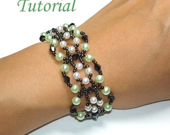 Beading Tutorial - Beaded Candy Pretzel Bracelet Pattern