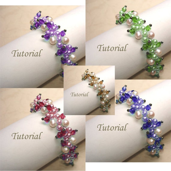Bead Bracelet Pattern Tutorial Beading Tutorial Beaded Tropical Forest Vine Bracelet Pattern Beading Pattern Beaded Pearl Jewelry Making