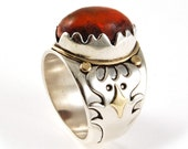 The Mexican Fire Opal Ring