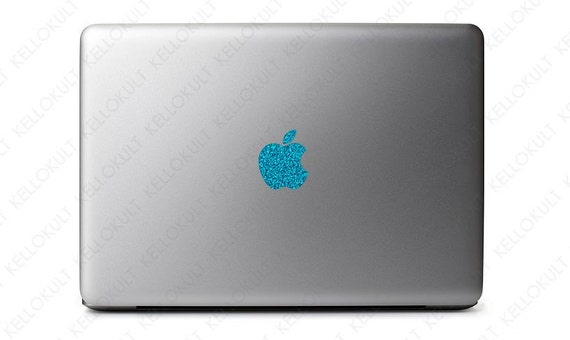 """Sparkling Turquoise Apple Macbook Pro 13"""" & 15"""" Logo Decal"""