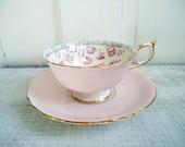 Pink Paragon Tea Cup and Saucer Set - Paragon Teacup and Saucer Set - Fortune Telling Tea Cup Set