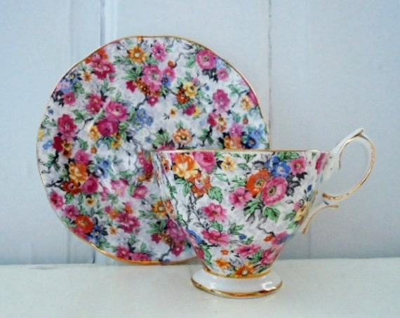 Vintage Royal Albert Chintz Tea Cup and Saucer