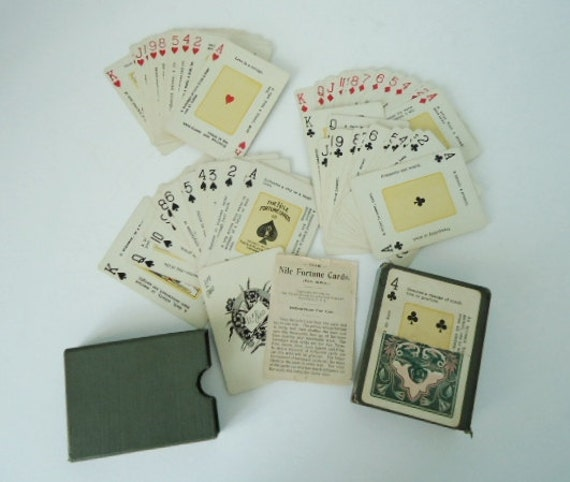 Antique Nile Playing Card Deck - Vintage Mint 1904 Congress Playing Card Deck - Fortune Telling Card Deck