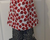 Sale Size 3 Read to Ship Custom Boutique Vibrant Ladybug Ruffle Top with Matching Capri And Matching Bow Free Shipping---Pamiekays
