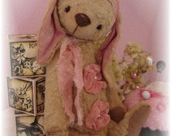 "Pattern &Instructions for 7.5"" Matilda Vintage style Rabbit PDF"