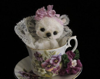 PDF File Sewing Pattern for 4.25 inch Tea Cup Bear By Janice Woodard