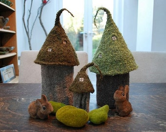 fairy castles for storing hooks and needles KNITTING PATTERN