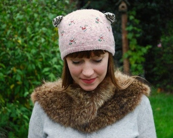 cupcake kitten hat KNITTING PATTERN