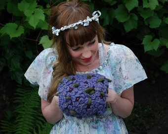 tiny violet hand puff CROCHET/knitting PATTERN