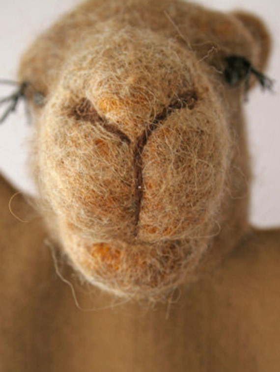 Needle Felted Camel Puppet