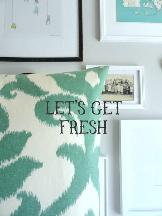 Designer Decorative Pillow - Floral Ikat - 18 inches - Throw Pillow