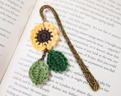 Hand Crocheted Bookmark - Sunflower