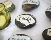 Place Card Stones - Wedding Favors - Eco Weddings - Reserved Listing for James