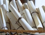 Thank You Card Scrolls - Favors - Centerpiece - Luminaries - Reserved Listing for Laurie