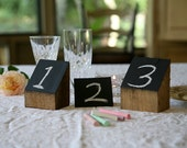 Chalkboard Table Number - Unique & Rustic - Made from Reclaimed Pallets - 10 Count
