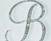 "4.5"" Monogram Cake Topper - Swarovski Crystals"