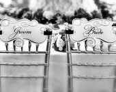 Chair Signs - Bride and Groom - Wedding Reception Decoration