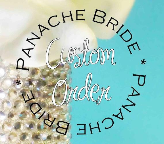 Jennifer Sigona - 2nd Payment - Custom Swarovski Crystal Bridal Bouquet Jeweled Handle