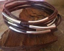 DARK BROWN BANGLES Bracelets set of 10 (256)