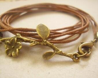 TWIG bracelet Vintage jewelry bronze (141)