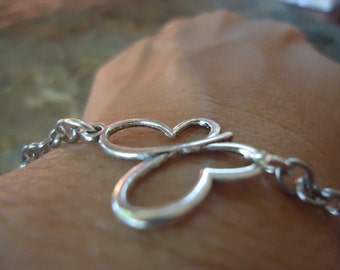 SILVER BUTTERFLY delicate bracelet in silver