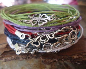CLOVER wrap bracelet with sweet lucky charms (156)