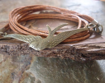 BRONZE SWALLOW wrap bracelet (17)
