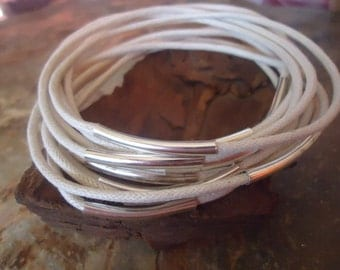 NATURAL COLORED BANGELS Bracelets set of 10