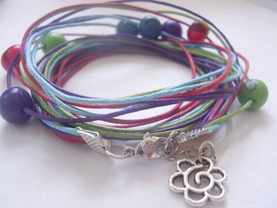 colorful wrap bracelets of palm seeds 282