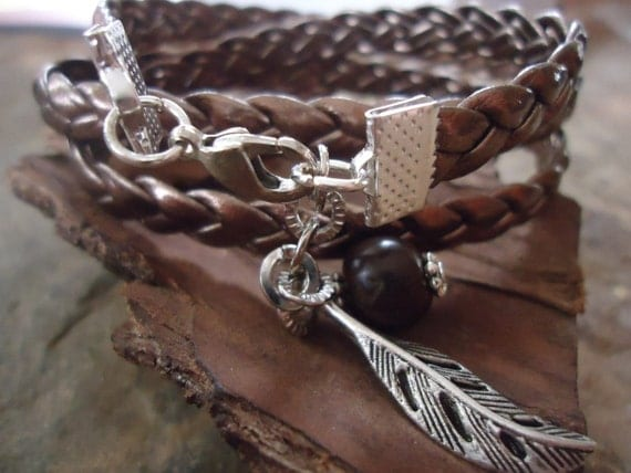 BRAIDED & SHEET Wrap Bracelet (77)