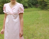 Regency Dress, Reenactment Costume, and Formal Ball Gown, Pink, Junior 9, Misses 10