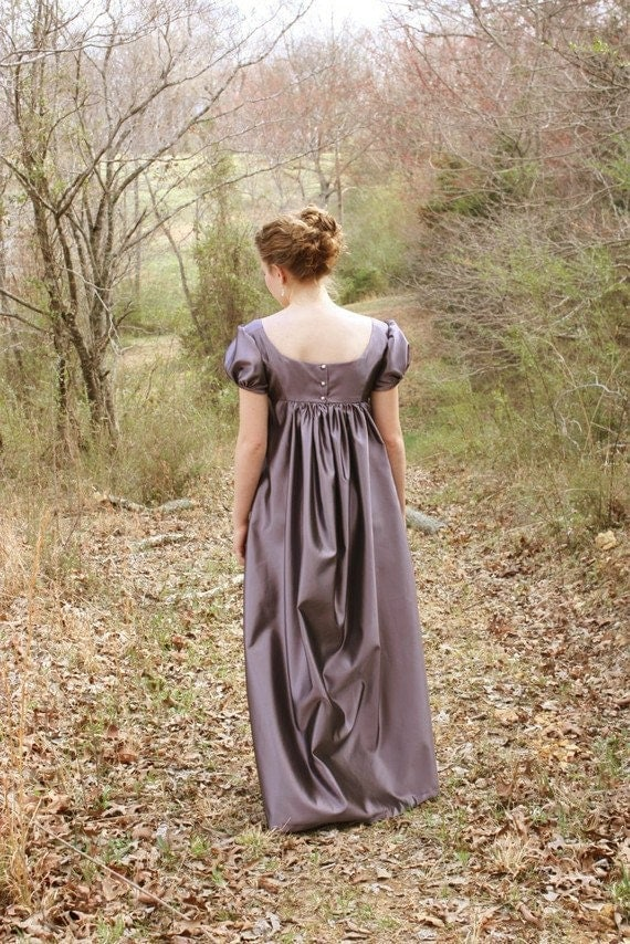 Elegant Lavender Regency Dress, Reenactment Costume, and Formal Ball Gown or Bridesmaid