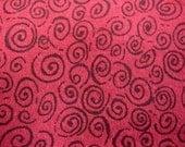 Flannel Red With Black Spirals
