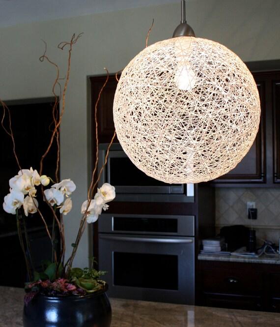 Items Similar To String Globe Pendant Light Fixture 30