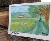 Watercolor Painting on Greeting Card